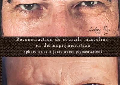 Tatouage soucils pour homme