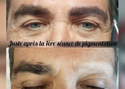 Tatouage des sourcils homme poil