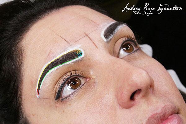 Aide maquillage permanent sourcils
