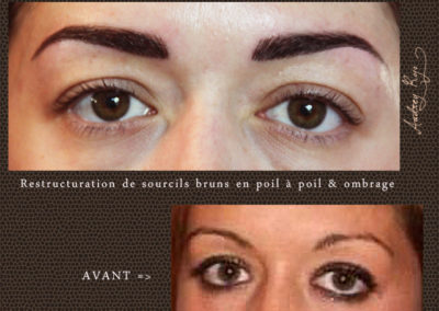 Restructuration de sourcils bruns