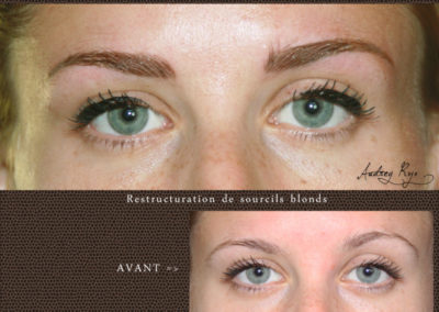 Sourcils blonds