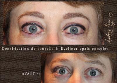 Eyeliner épais complet densification de sourcils