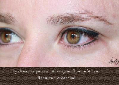 Eyeliner supérieur et crayon flou inférieur