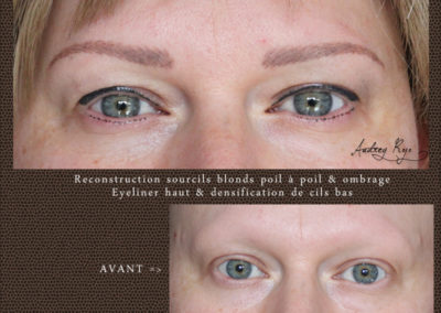 Eye liner permanent sourcils blonds